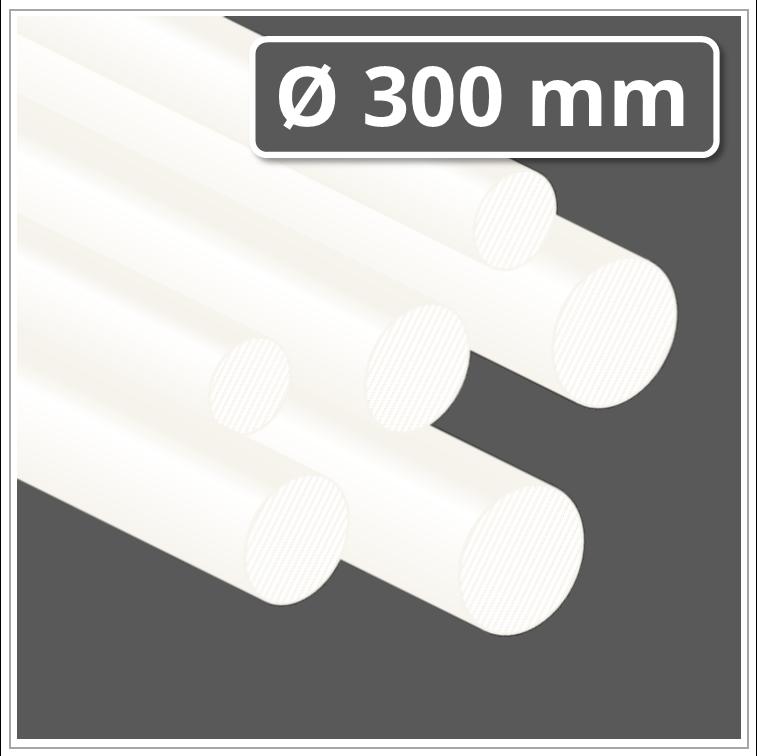 30cm - Kunststoffstab auf Zuschnitt POM Rundstab natur /Ø 22mm L: 300mm