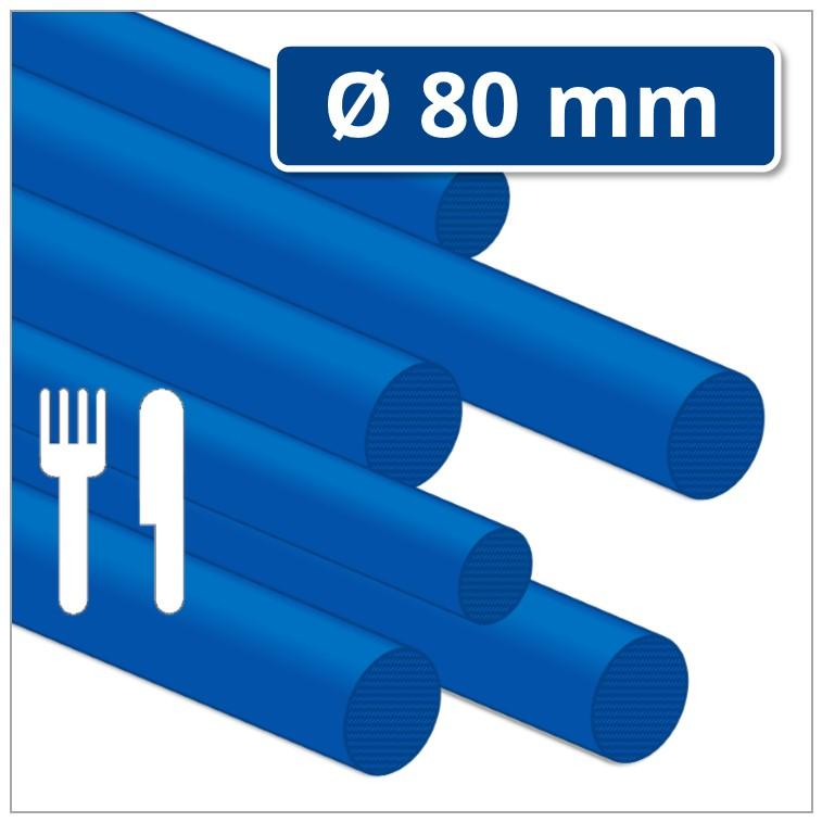 POM Kunststoff-Rundstab Ø 80 mm blau (POM-C Rundstab)