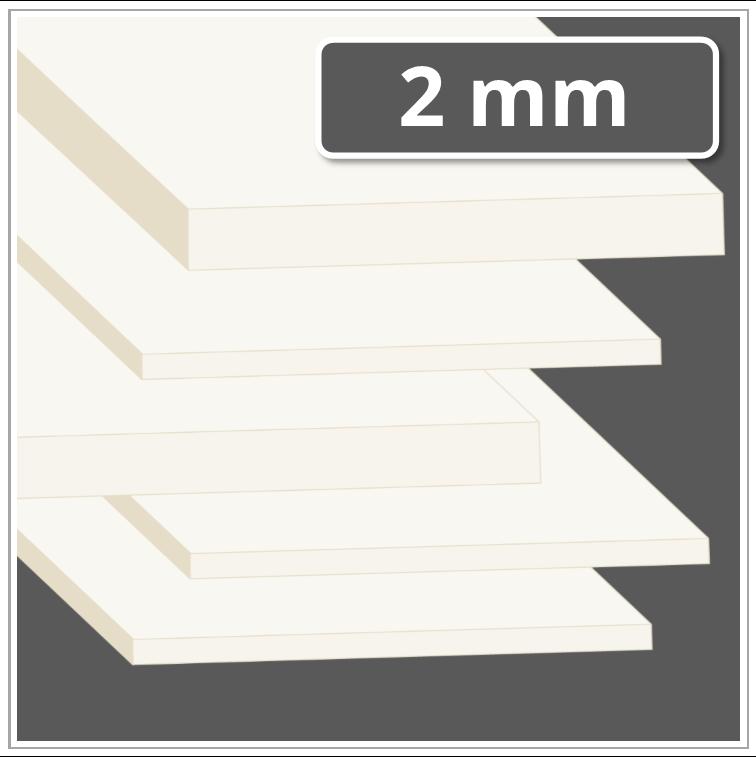 Sehr PA 6.6 Platte 2 mm stark natur (Polyamid 6.6 Kunststoff-Platte) YQ43