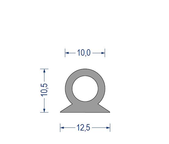 silikon hohlkammerprofil 60 sh a 12 5x10 5x10mm grau. Black Bedroom Furniture Sets. Home Design Ideas