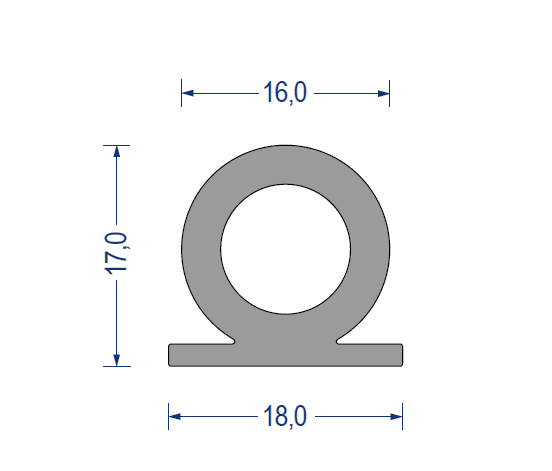 silikon hohlkammerprofil 60 sh a 18x17x16mm grau. Black Bedroom Furniture Sets. Home Design Ideas