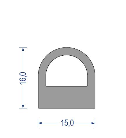 silikon hohlkammerprofil 60 shore a 15 x 16 mm grau. Black Bedroom Furniture Sets. Home Design Ideas