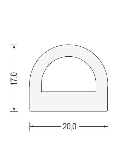 silikon hohlkammerprofil ca 60 sh a 20x17mm transluzent. Black Bedroom Furniture Sets. Home Design Ideas