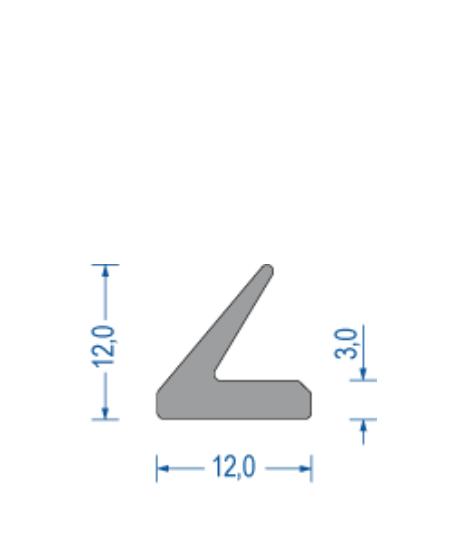 silikon zargen lippenprofil ca 50 shore a 12x12mm grau. Black Bedroom Furniture Sets. Home Design Ideas
