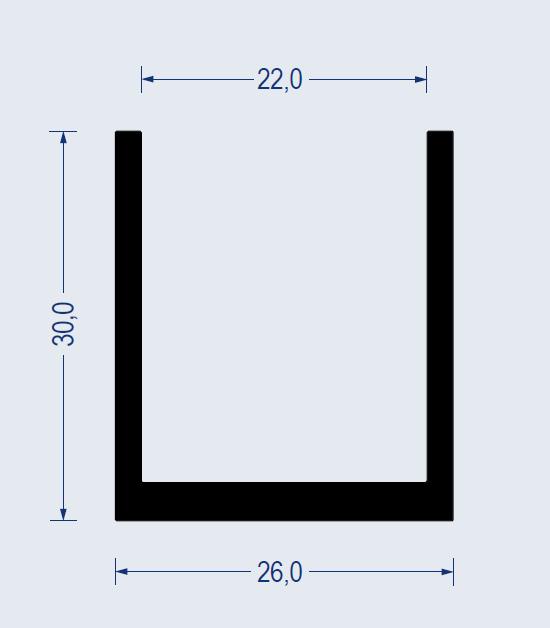 gummi u profil kb 22mm 26x30mm epdm 65 sh a schwarz. Black Bedroom Furniture Sets. Home Design Ideas